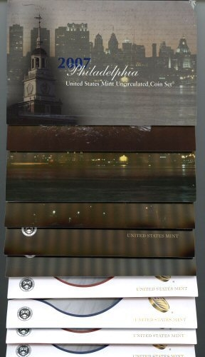5 DIFFERENT MODERN US MINT SETS: 2007-2014