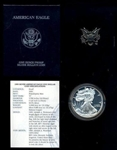 1998 & 1999 PROOF SILVER EAGLES WITH BOX/COA