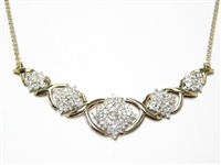 OVER 1 CT DIAMOND 20 INCH GOLD NECKLACE