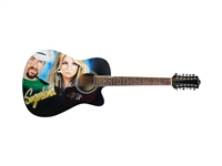 Sugarland Autographed Airbrush Acoustic Guitar