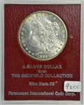 SCARCE FROSTY-WHITE GEM BU 1892-CC MORGAN SILVER DOLLAR. MS65 REDFIELD COLLECTION