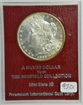 PROHIBITIVELY RARE GEM BU 1893-CC MORGAN SILVER DOLLAR. MS65 REDFIELD