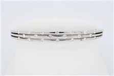 ROBERTO COIN 18K DIAMOND BANGLE BRACELET