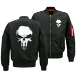 NEW MENS PUNISHER ZIPPERED JACKET