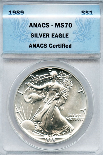 RARE SUPER FLAWLESS 1989 SILVER EAGLE MS70
