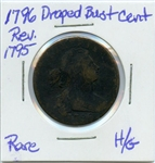 EXTREMELY RARE 1796 REV.1795  DRAPED BUST CENT