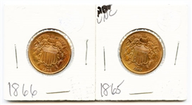 GORGEOUS PAIR OF 2 CENT PIECES
