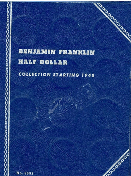 BENJAMIN FRANKLIN HALF DOLLAR COLLECTION IN WHITMAN ALBUM
