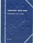MERCURY HEAD DIME COLLECTION FROM 1916 TO 1945 IN WHITMAN ALBUM