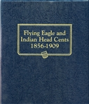 FLYING EAGLE AND INDIAN HEAD CENT COLLECTION IN WHITMAN ALBUM