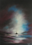 CUMPATA *** DUSK ON THE BLACK SEA *** ORIGINAL SIGNED OIL PAINTING
