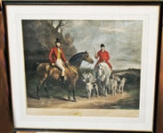THOMAS MCLEAN *** MORNING OF THE CHASE *** VINTAGE LITHOGRAPH