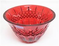 WATERFORD RED CRYSTAL BOWL
