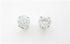 14K DIAMOND STUD EARRINGS 1.00 C.T.W.