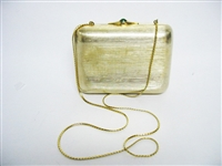 VINTAGE JUDITH LEIBER GOLD EVENING HANDBAG
