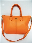 COLE HAAN ORANGE LEATHER HANDBAG