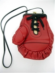 UNIQUE MOSCHINO LEATHER RED AND BLACK BOXING GLOVE HANDBAG