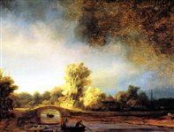 REMBRANDT ** RIVER VIEW AND RUINS**