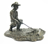 "FRANKLIN MINT BRONZE ""THE COWBOY"""