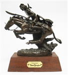 "REMINGTON ""THE CHEYENNE"" BRONZE STATUE"