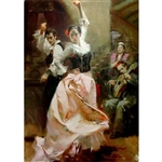 PINO ** DANCING IN BARCELONA ** SIGNED CANVAS