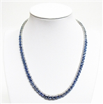 14K TANZANITE AND DIAMOND NECKLACE 42.80 C.T.W.