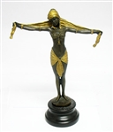 ART DECO CHIPARUS BRONZE WITH 24K GOLD TRIM