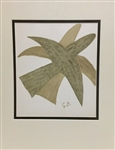 BRAQUE *TWO BIRDS* MATTED LITHOGRAPH