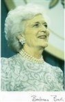 SIGNED PHOTOGRAPH OF FIRST LADY BARBARA BUSH