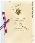 RONALD REAGAN & GEORGE BUSH AUTOGRAPHED INAUGURATION CEREMONIES PROGRAM