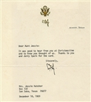 PRESIDENT LYNDON BAINES JOHNSON SIGNED LETTER AND OTHER MEMORABILIA