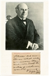 WILLIAM JENNINGS BRYAN HAND SIGNED NOTE
