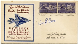 SIGNED WM. LEAR COMMEMORATIVE ENVELOPE AND 1969 POPULAR MECHANICS MAGAZINE