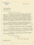 WILLIAM PINKERTON SIGNED LETTER DATED MAY 26, 1923