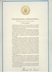 COPY OF THE PARDON TO RICHARD NIXON