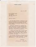 VERY RARE HOWARD HUGHES SIGNED TYPED LETTER