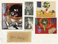 MATISSE *** THREE PRINTS AND GENUINE HAND SIGNED AUTOGRAPH ***