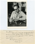 ARTHUR MILLER SIGNED HAND WRITTEN NOTE