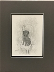 BONNARD *LE CHIEN -THE DOG* MATTED HELIOGRAVURE