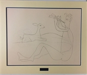 PICASSO *SATYR AND FAUN* MATTED LITHOGRAPH