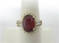 14K RUBY AND DIAMOND RING 6.02 C.T.W.