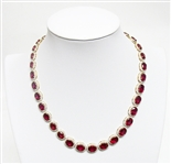 14K RUBY AND DIAMOND NECKLACE 72.59 C.T.W.