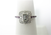 18K RUBY AND DIAMOND RING .83 C.T.W.