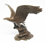 "SIGNED FRANKLIN MINT ""POISED FOR GLORY"" BRONZE STATUE"