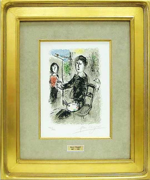 "CHAGALL *** UNTITLED FROM ""LES ATELIERS DE CHAGALL"" ***"