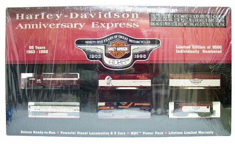 NEW IN BOX HARLEY-DAVIDSON ELECTRIC TRAIN SET