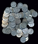 BAG OF 100 ASSORTED MIXED DATE WINGED-HEAD SILVER MERCURY DIMES