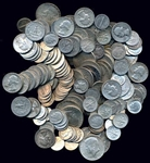 GIANT LOT OF 160 ASSORTED 90% US SILVER COINAGE