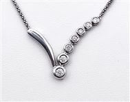 14K WHITE GOLD .33 C.T.W. DIAMOND NECKLACE
