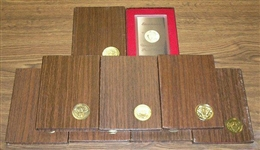 8 1971 PROOF EISENHOWER SILVER DOLLARS in ORIGINAL BOXES